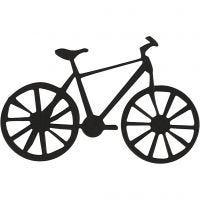 Label, fiets, afm 77x48 mm, zwart, 10 stuk/ 1 doos