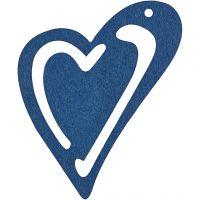 Hart, afm 55x45 mm, donkerblauw, 10 stuk/ 1 doos