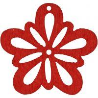 Bloem, d: 27 mm, rood, 20 stuk/ 1 doos