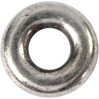 Spacer kraal, d: 9 mm, gatgrootte 4 mm, antiek zilver, 15 stuk/ 1 doos