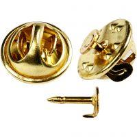 Button stud, d: 11,5 mm, verguld, 25 stuk/ 1 doos
