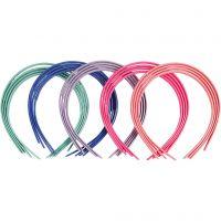 Haarbanden, B: 8 mm, diverse kleuren, 20 stuk/ 1 doos