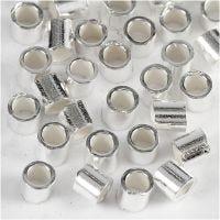 Knijpkralen, d: 2 mm, sterling zilver, 50 stuk/ 1 doos