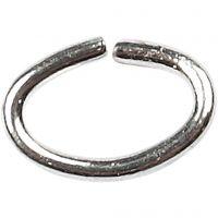 Ring, ovaal, dikte 0,7 mm, verzilverd, 50 stuk/ 1 doos