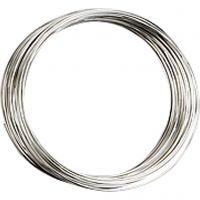 Memory Wire, d: 5 cm, dikte 0,7 mm, verzilverd, 1 stuk