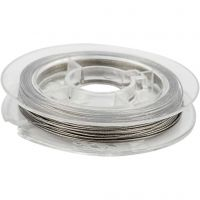 Sieradendraad, dikte 0,38 mm, zilver, 10 m/ 1 rol