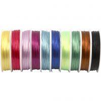 Elastisch draad, dikte 1 mm, diverse kleuren, 10x25 m/ 1 doos