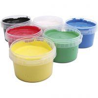 PRIMO Vingerverf, diverse kleuren, 6x250 ml/ 1 doos