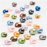Zoetwater parels, afm 5-6 mm, gatgrootte 0,5 mm, 40 cm/ 1 doos