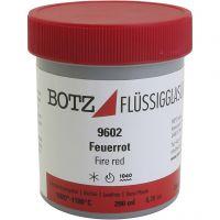Glazuur voor klei, rood, 200 ml/ 1 Doosje