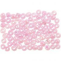 Rocailles, d: 4 mm, afm 6/0 , roze, 500 gr/ 1 doos