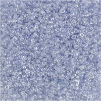Rocailles, d: 1,7 mm, afm 15/0 , gatgrootte 0,5-0,8 mm, lichtblauw, 25 gr/ 1 doos
