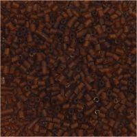 2-cut, d: 1,7 mm, afm 15/0 , gatgrootte 0,5 mm, bruin, 25 gr/ 1 doos