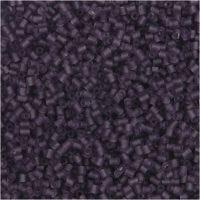 2-cut, d: 1,7 mm, afm 15/0 , gatgrootte 0,5 mm, frosted lila, 25 gr/ 1 doos