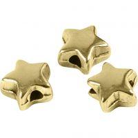 Spacer kralen, afm 5,5x5,5 mm, gatgrootte 1 mm, verguld, 3 stuk/ 1 doos