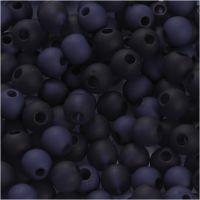 Plastic Kralen, d: 6 mm, gatgrootte 2 mm, blauw, 40 gr/ 1 doos