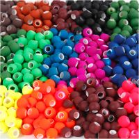 Link kralen, afm 8x10 mm, gatgrootte 5 mm, diverse kleuren, 20x21 gr/ 1 doos
