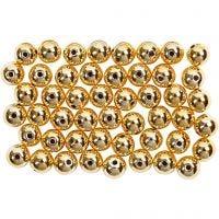 Kralen, d: 5 mm, gatgrootte 0,7 mm, goud, 100 stuk/ 1 doos
