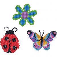 Diamond Dotz, bloem, vlinder, lieveheersbeestje, afm 18x10 cm, 1 doos
