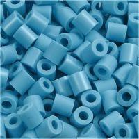 Strijkkralen, afm 5x5 mm, gatgrootte 2,5 mm, medium, turquoise (32256), 6000 stuk/ 1 doos