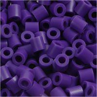 Strijkkralen, afm 5x5 mm, gatgrootte 2,5 mm, medium, donkerpaars (32234), 1100 stuk/ 1 doos