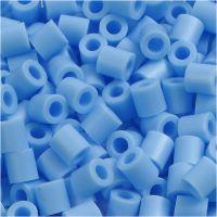 Strijkkralen, afm 5x5 mm, gatgrootte 2,5 mm, medium, pastel blauw (32224), 6000 stuk/ 1 doos