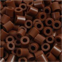 Strijkkralen, afm 5x5 mm, gatgrootte 2,5 mm, medium, chocolate (32249), 6000 stuk/ 1 doos