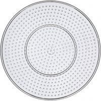 Onderplaat, grote cirkel, d: 15 cm, transparant, 10 stuk/ 1 doos