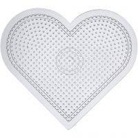 Onderplaat, groot hart, H: 15 cm, transparant, 10 stuk/ 1 doos