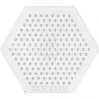 Onderplaat, kleine zeskant, H: 7,5 cm, 10 stuk/ 1 doos