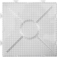 Onderplaat, groot vierkant, afm 15x15 cm, transparant, 2 stuk/ 1 doos