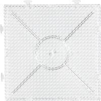 Onderplaat, groot vierkant, afm 15x15 cm, transparant, 1 stuk