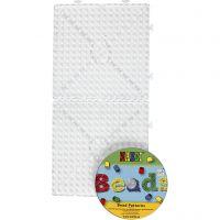Onderplaat, JUMBO - groot vierkant, JUMBO, transparant, 1 set