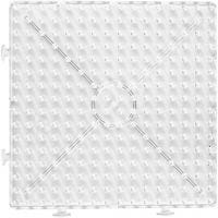 Onderplaat, groot vierkant, afm 15x15 cm, JUMBO, transparant, 1 stuk