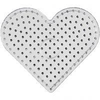 Onderplaat, JUMBO - hart, JUMBO, transparant, 1 stuk
