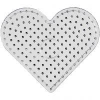 Onderplaat, JUMBO - harten, JUMBO, transparant, 5 stuk/ 1 doos