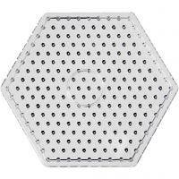 Onderplaat, JUMBO - zeskant, JUMBO, transparant, 1 stuk