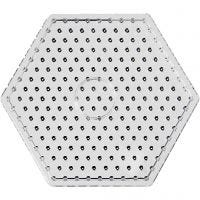 Onderplaat, JUMBO - zeskant, JUMBO, transparant, 5 stuk/ 1 doos