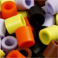 Strijkkralen, afm 10x10 mm, gatgrootte 5,5 mm, JUMBO, herfst mix, 2450 div/ 1 emmer
