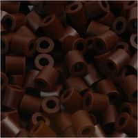 Foto kralen, afm 5x5 mm, gatgrootte 2,5 mm, bruin (3), 6000 stuk/ 1 doos