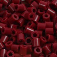 Foto kralen, afm 5x5 mm, gatgrootte 2,5 mm, wijnrood (4), 6000 stuk/ 1 doos