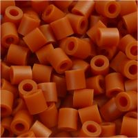 Foto kralen, afm 5x5 mm, gatgrootte 2,5 mm, rood bruin (5), 1100 stuk/ 1 doos