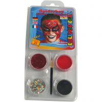 Eulenspiegel Schmink - Motieven set, spiderman, diverse kleuren, 1 set