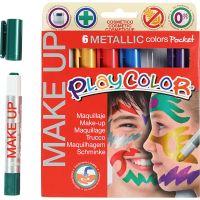 Playcolor Make up, metallic, diverse kleuren, 6x5 gr/ 1 doos
