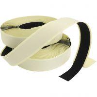 Klittenband / klittenband, zelfklevend, dikte 2 cm, zwart, 25 m/ 1 doos