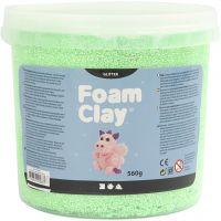 Foam Clay®, glitter, groen, 560 gr/ 1 emmer
