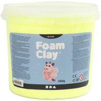 Foam Clay®, glitter, geel, 560 gr/ 1 emmer