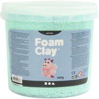 Foam Clay®, glitter, lichtgroen, 560 gr/ 1 emmer