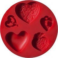 FIMO® vormen, harten, d: 7 cm, 1 stuk