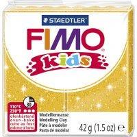 FIMO® Kids boetseerklei, glitter, goud, 42 gr/ 1 doos